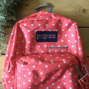 Jansport DigiBreak Coral Sparkle Backpack